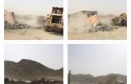 أمانة جدة تزيل تعديات على أراضي حكومية