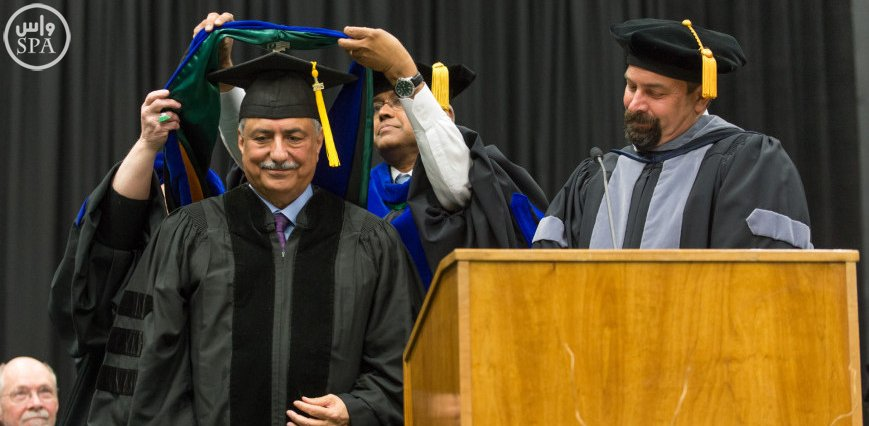 جامعة ولاية كولورادو تمنح وزير المالية الدكتور إبراهيم بن عبد العزيز العساف الدكتوراه الفخرية