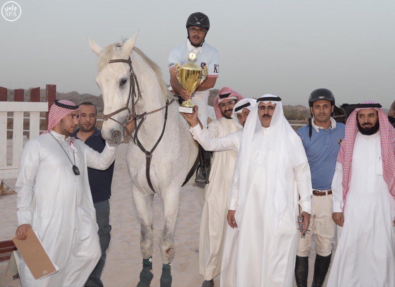 اختتام بطولة قفز الحواجز على كأس الأمير فيصل بن خالد بأبها