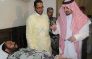 الأمير فيصل بن خالد يزور المصابين في تفجير عسير